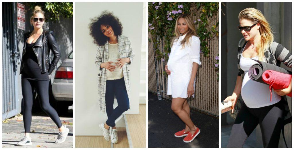 Chic Mom-to-Be Style: Don't shy away from sportswear or comfy shoes | Hanger.io